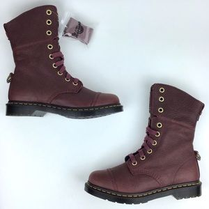 Dr. Martens 9 Eye Cherry Red Leather Aimilita NEW
